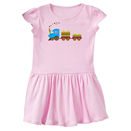 inktastic Colorful Toy Train Toddler Dress 3T Ballerina Pink