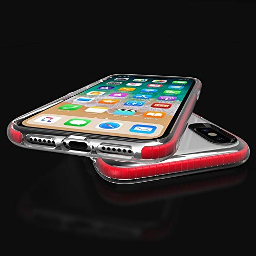 Protector+ iPhone XR Case (Red), Premium Cellphone Skin for Apple iPhone XR (2019) - Transparent Clear with Red Trim