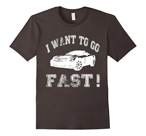 I Want To Go Fast Muscle Car T-Shirt XL Asphalt