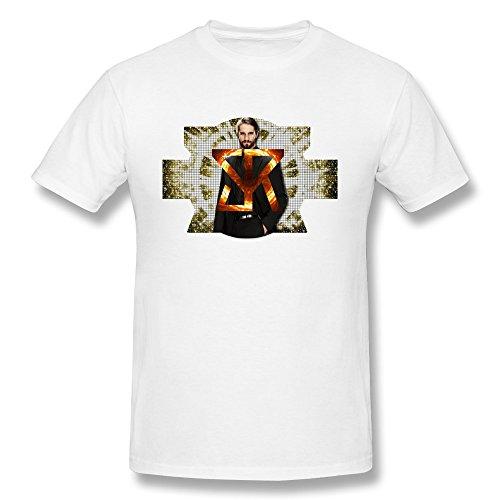 White Men's Seth Rollins Large Round Neck T-shirts
