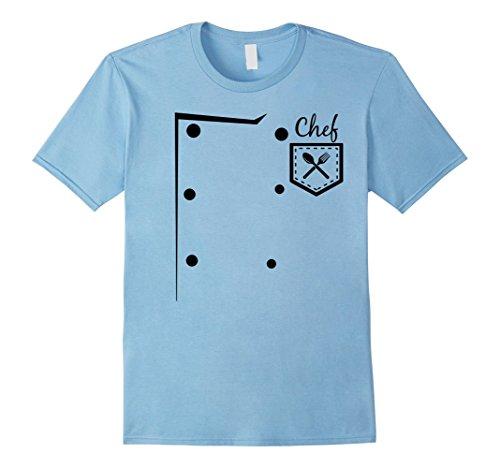 Mens CHEF Easy DIY Halloween Costume T-Shirt - Cook Costume Medium Baby Blue