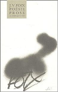 Poésie, Prose par J.V. Foix