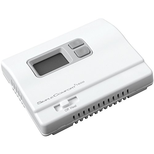 ICM Controls SC1600L Simple Comfort Non-Programmable Heat Only Thermostat with Backlit Display,...