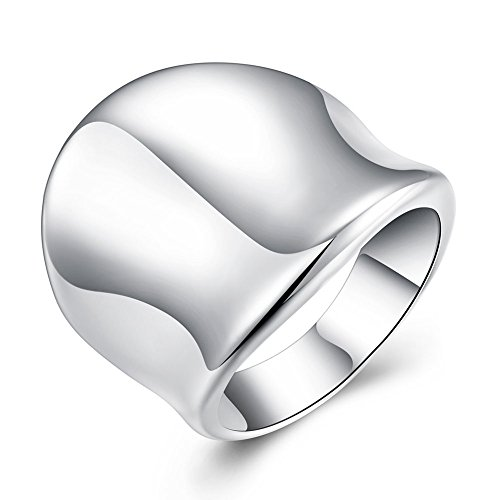 Fashion Jewelry Womens 925 Sterling silver Plated Thumb Smooth Rings us 8