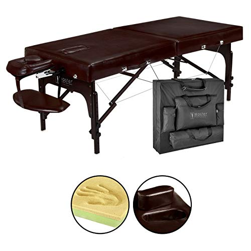 Master Massage 31″ Supreme Lx Portable Massage Table Package-brown Luster, Memory Foam