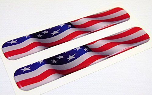 USA American Flag Domed Decal Emblem Resin car stickers 5