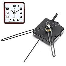 HITSAN Replacement Quartz Clock Movement Mechanism Motor & Black Hands & Fittings Kit One Piece