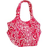 Vera Bradley Side By Side Tote in Twirly Birds Pink, Bags Central