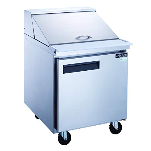 Dukers DSP29-12M-S1 6.5 cu. ft. Single Door Commercial Food Prep Table Refrigerator with Mega Top