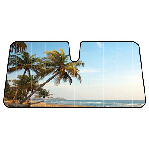 sunshine-beach-sand-ocean-palm-trees-sunny-sky-with-clouds-car-truck-suv-front-windshield-sunshade-a