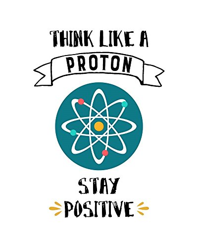 Think Like A Proton White by Color Me Happy Art Print