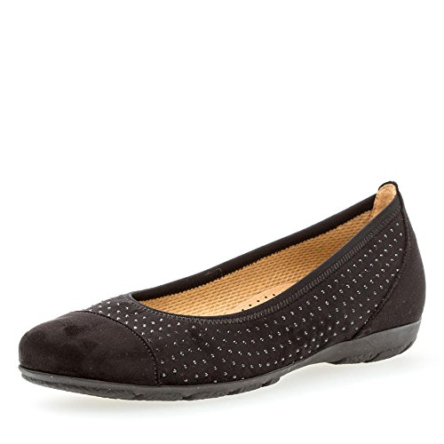 Gabor Gabor Ballet Ballet Negro Mujer Flats w4qw5rp
