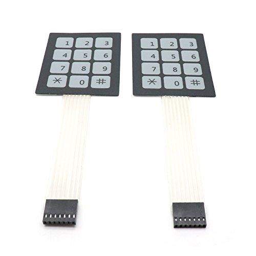 (Yootop 12 Buttons Control Panel 12 Key Matrix Membrane Switch Keypad Keyboard (12 Keys))