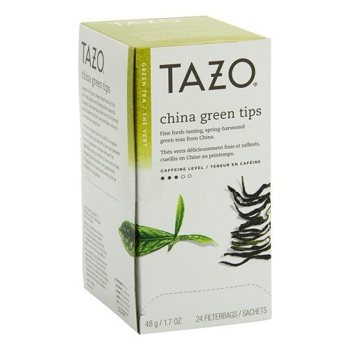 Tazo China Green Tips  Filter Bag Tea, 24-Count Packages (Pack of 6)