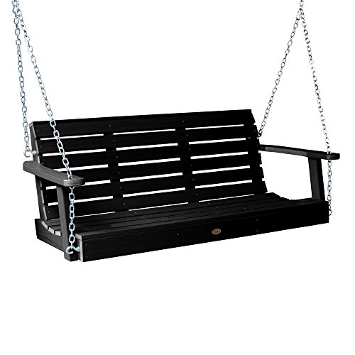 Highwood AD-PORW1-BKE Weatherly Porch Swing 5 Feet, - Plastic Black Materials Recycled