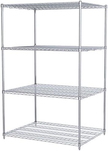 Akro-Mils AWS743648SU 4-Shelf Wire Shelving Starter Unit, 36 x 48 x 74 , Chrome