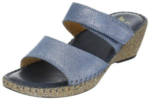 Hans Herrmann Collection Blau 036148-40 - Sandalias de vestir de cuero para mujer Azul