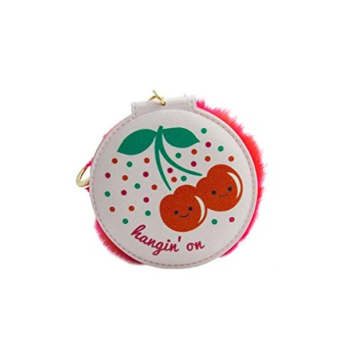 DCI Keychain Compact Mirror Cherries, Foldable Mirror, 3 Magnifying and 3 True-to-Life Mirror, Great for Travel or Home Use