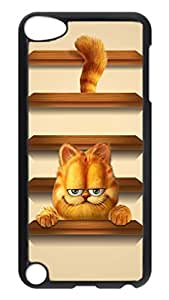 iPod 5 Cases, Hot Sale Personalized Garfield Shelves Creativity Protective Hard PC Plastic Black Edge Case Cover for Apple iPod Touch 5 5th Generation