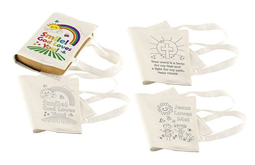 Color Your Own Bible Cover School Classroom Activity Bulk Pack of 12