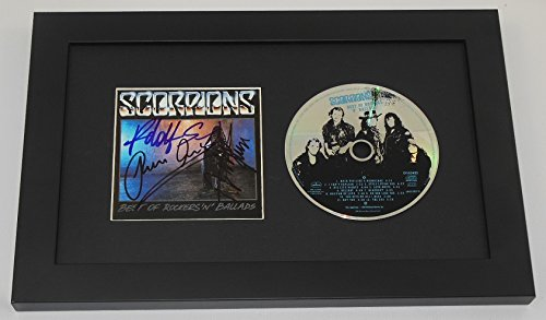 Scorpions Best of Rockers 'n' Ballads Rudolf Schenker Klaus Meine Matthias Jabs Signed Autographed Music Cd Cover Custom Framed Loa (Best Of Ballads Scorpions)