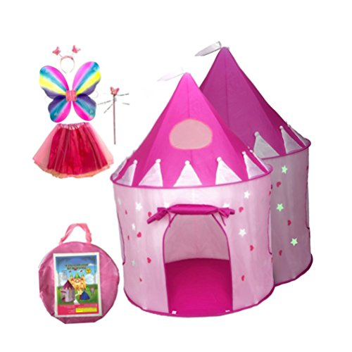 big_store Premium Tents For Kids Featuring Glow In The Dark Stars Hearts Design With 2 Mesh Windows Sunroof Features Innovative Child Friendly Design With A Lightweight Zipper Pack Of 5 & ebook by by big_store