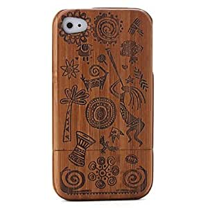 get Carving Pattern Bamboo Case for iPhone 4 / 4S