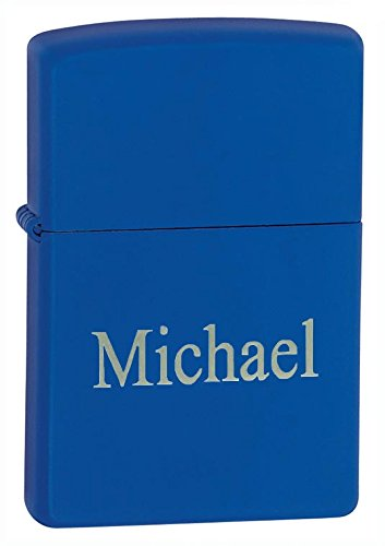 - Personalized Zippo Royal Blue Matte Lighter with Free Engraving