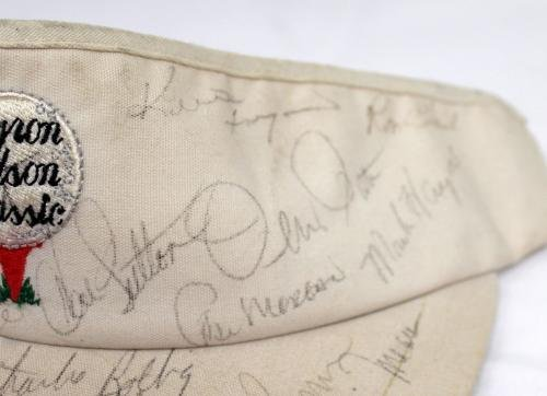 Bryon Nelson Classic Signed Autographed Golf Visor Payne Stewart Player 9545 JSA Certified Autographed Golf Hats and Visors