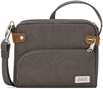 Travelon Anti-theft Heritage Crossbody Bag, Pewter