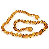 100% Baltic amber Necklace 32cms, variety of colours. Fast and Free UK Delivery. Money Back Guarantee.