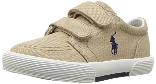 Polo Ralph Lauren Kids Boys' Faxon II Sneaker, Khaki Cotton, 10 M US Toddler by Polo Ralph Lauren (Image #1)
