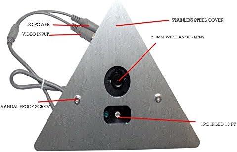 CCTV Spy Corner Mount Hidden Security Camera 700 TV Lines with 2.8mm Lens