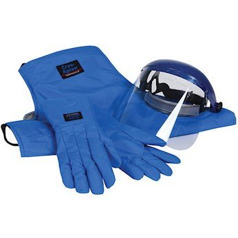 Cole-Parmer Cryogenic Safety Kit; Large Gloves, 36'' Long Apron, and Face Shield