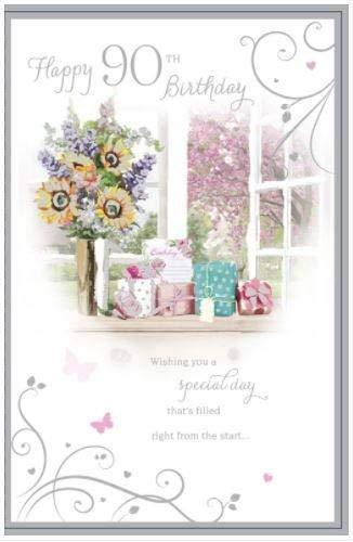 Amazon.com: 90 cumpleaños flores y regalos edad 90 Rango de ...