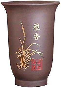 Feine große Pflanzenbecken, hochwertiger Blumentopf, Ablassloch an der Unterseite, die Wasseraufnahme und feuchtigkeitsspendend, atmungs lila Sandmaterial, vorzügliche Schnitzen, Topfpflanzen, Bonsai,