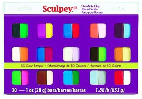Sculpey III Sampler 30-Color Set 1 pcs sku# 1841301MA