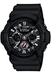 Casio Men's GA201-1 G-Shock Shock Resistant Sport Watch With Black Resin Band