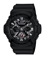 Casio Men's G-Shock GA-201-1A Black Resin Quartz Watch with Black Dial