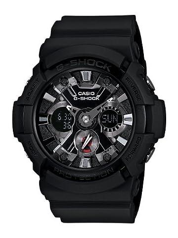 Casio Men's GA201-1 G-Shock Shock Resistant Sport Watch With Black Resin Band (G Shocks X Large)