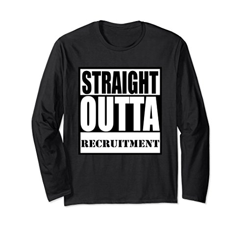 Greek Recruitment Shirts - Unisex STRAIGHT OUTTA RECRUITMENT SORORITY & FRATERNITY T-SHIRT Medium Black