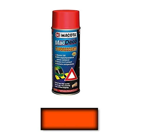 LGVSHOPPING Macota Tuning Vernice Spray Fluorescente e Trasparente Smalto Rosso Arancio