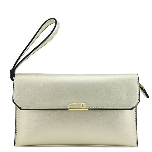 Clutch Envelope Crossbody Purse Gold Bag 8TpRTq