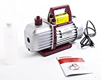 Kozyvacu, Two-Stage Rotary Vane Economy Vacuum Pump (5.0CFM, 0.3Pa, 1/2HP) Air Conditioner Refrigerant Recovery, HVAC/AUTO AC tool R134a R410a, Wine Degassing, Vacuum Pump for Milking from Kozyard LLC