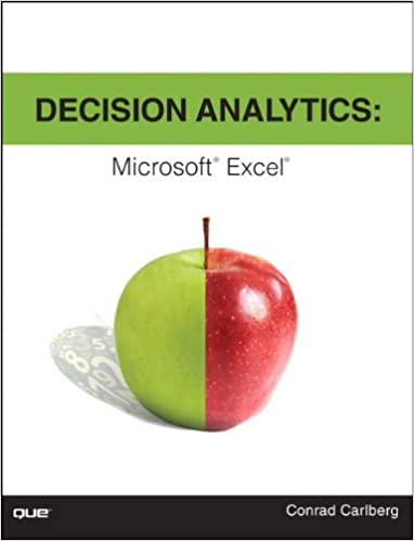 Download Decision Analytics: Microsoft Excel PDF, azw (Kindle)
