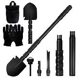 TREKOO Survival Folding Shovel Multi Purpose Military Folding Shovel Entrenching Tool Shovel for Camping, Hiking, Backpacking, Gardening, Fishing and Car Emergency