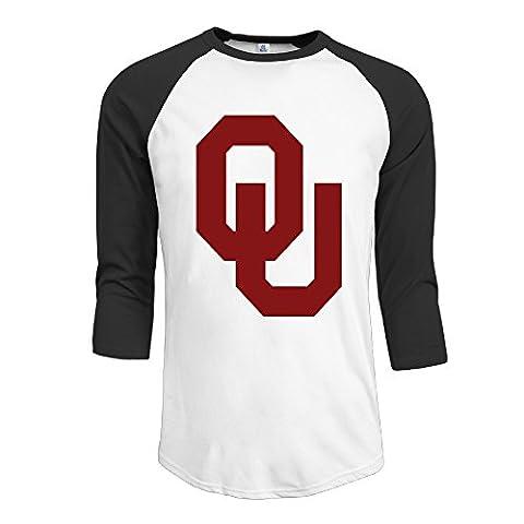 Guy Oklahoma Sooners Football Bob Stoops 3/4 Raglan Shirts Baseball Jerseys - Boomer Football