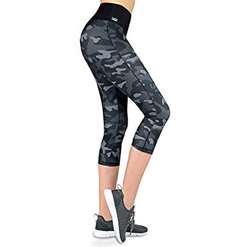 7aa9b771291ba iNoDoZ Women's High Waist Camouflage Yoga Pants Tummy Control Hip Seven  Points Running Sports Pants Leggings