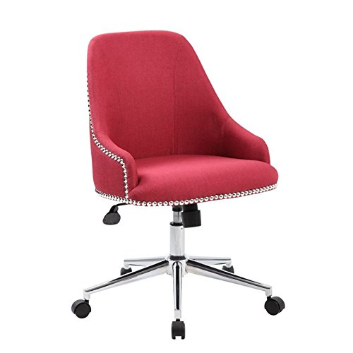 Boss Office Products B516C-MR Desk-Chairs Velvet Fabric Upholstered Swivel Chair