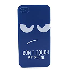 Iphone 4 Case, JAHOLAN Do Not Touch My Phone Eyes Clear Bumper Hard Plastic Case Silicone Skin Cover for Iphone 4s 4